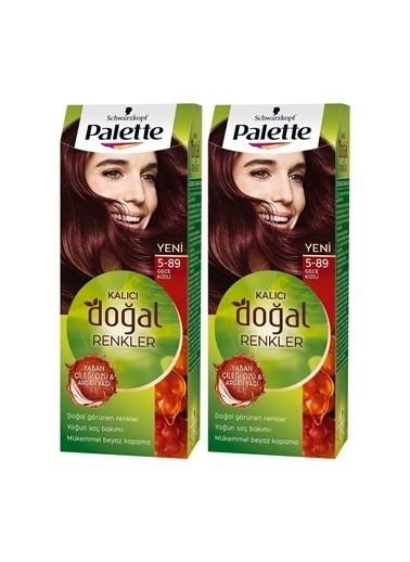 Palette Palette Kalıcı Doğal Renkler 5-89 Gece Kızılıx 2 Paket Renkli